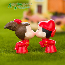 Micro Landscape Lovers Couples Bridegroom and Bride Doll Model Art Craft Birthday Cake Creative Decoration cute resin bride and bridegroom toy doll