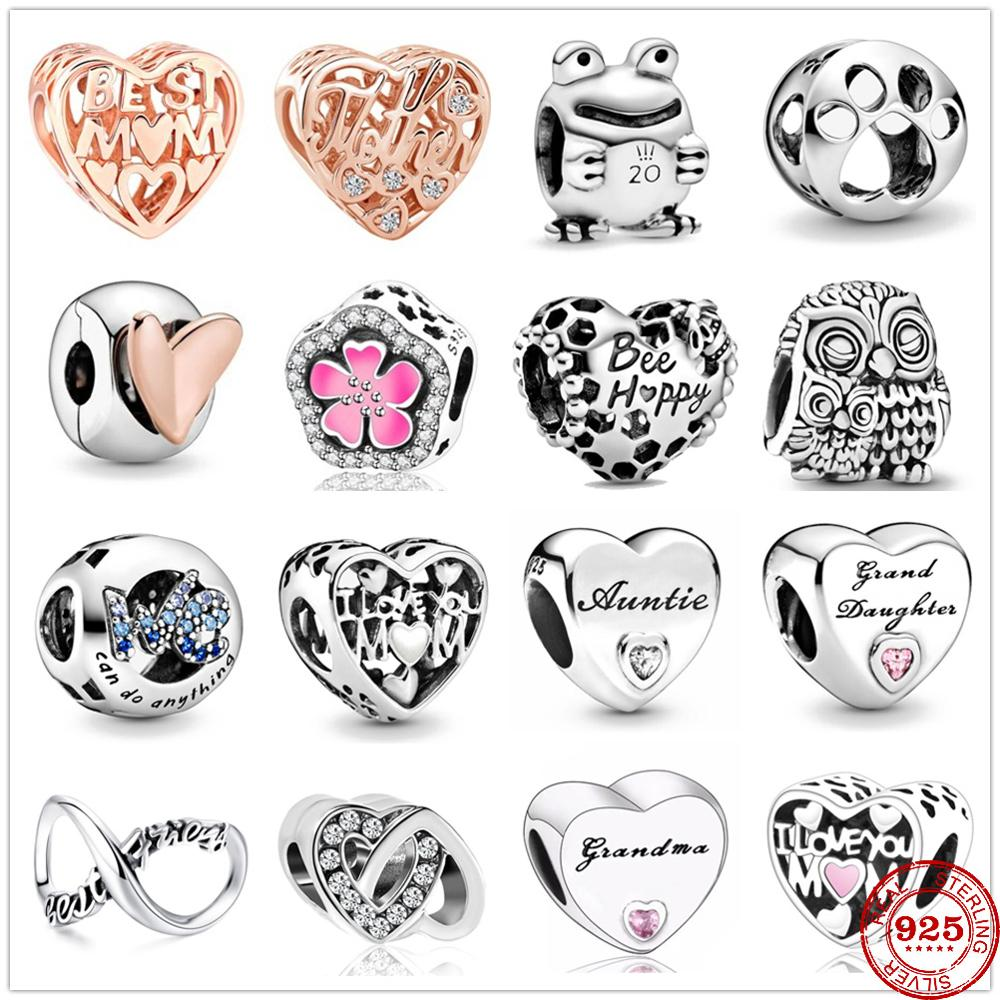 925 Sterling Silver Metal beads Love Heart Clip We Can Do Any Charm Fit Original Pandora charms silver 925 DIY Bracelet Jewelry(China)