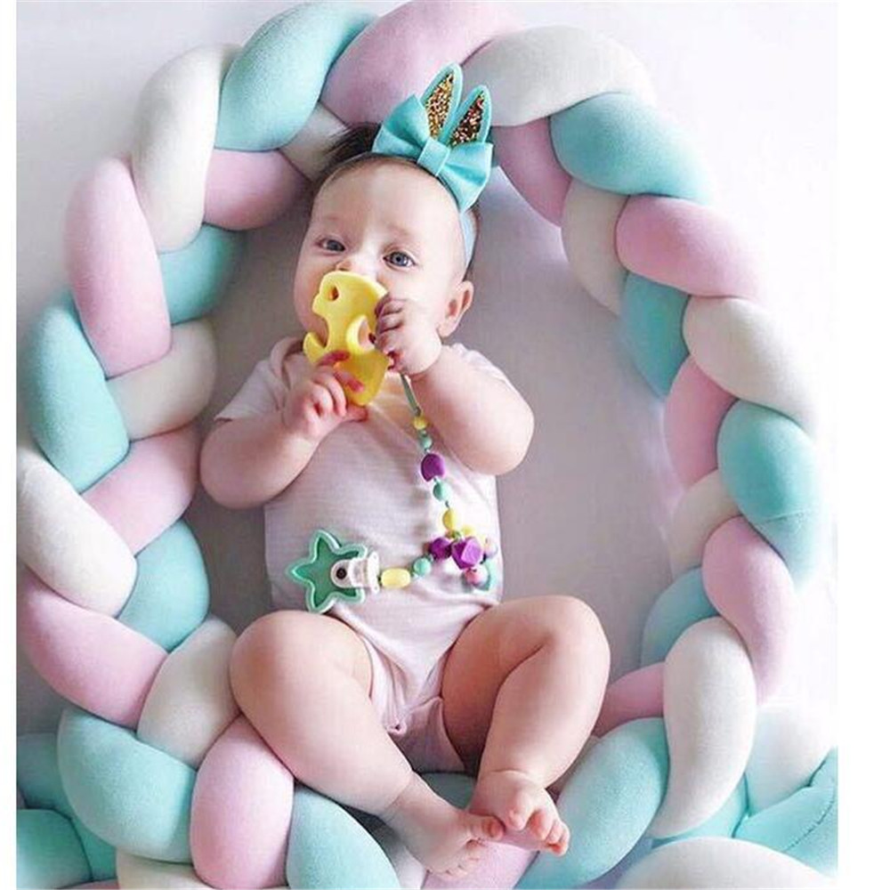 Bed Bumper Bumpers Pillow Kids For Newborn Baby Pillow Cushion Cot Kids Room Decor Infant Knotted Things Protector