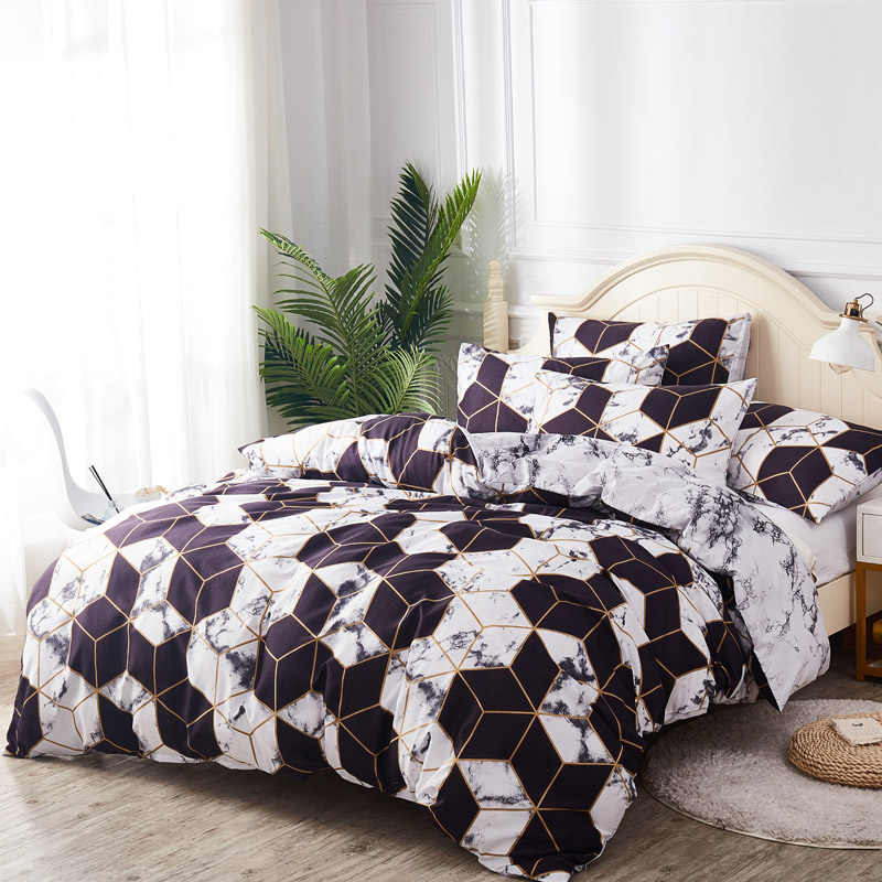 Duvet Cover & Pillow Shams Set Ultra Soft Brushed Fabric 8 Size Single Double Full Queen King Size 200*200cm 240/220cm