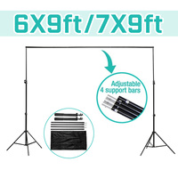2X3/2.4X3.0m Background Frame Photography Backdrop Background Support Stand System Metal backgrounds for photo studio + Bag