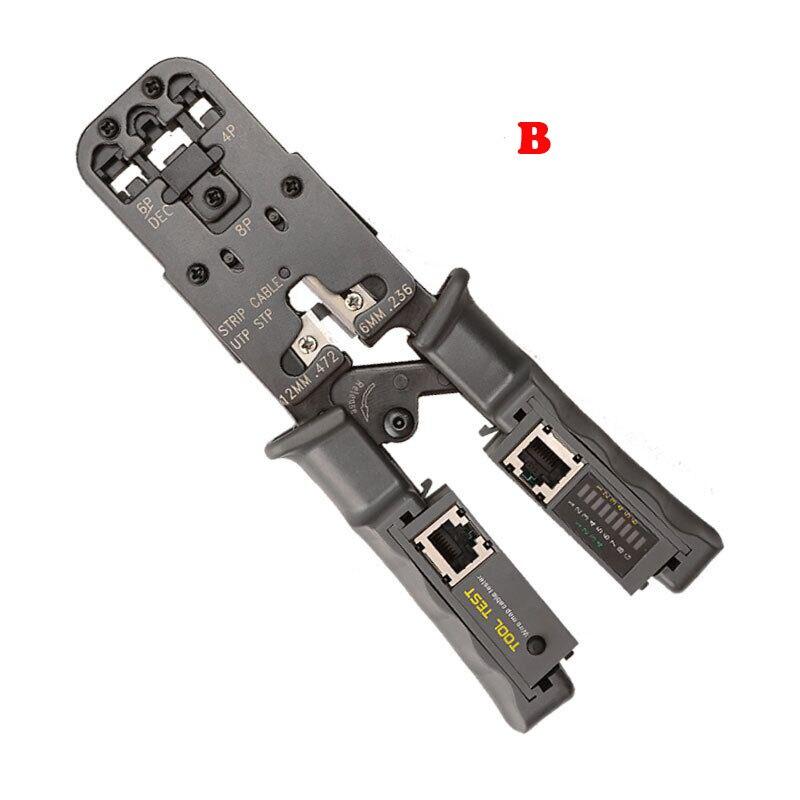 2 in 1 Network Plier LAN Cable Stripper Crimp Tool Tester Ethernet RJ45/RJ11/RJ9 6P DEC 4P 8P Crimping Pliers