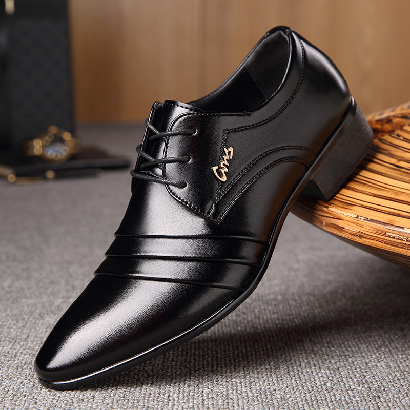 Fashion Mens Leather Shoes Wedding Business Dress Nightclubs Oxfords Breathable Working Lace Up Shoes 345rt
