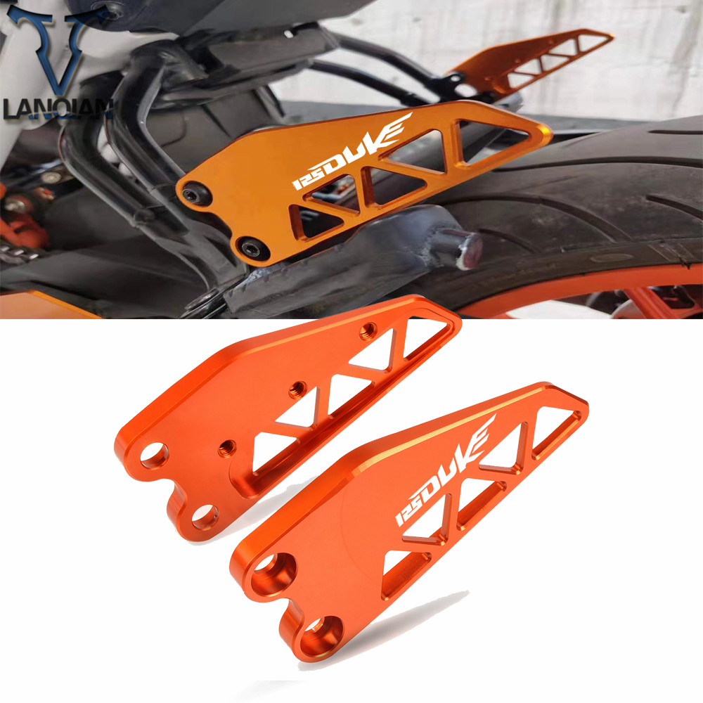 For KTM DUKE 125 2017 2018 2019 CNC Aluminum Motorcycle Rear Heel Protective Cover Guard Motorbike Accessories orange or black image