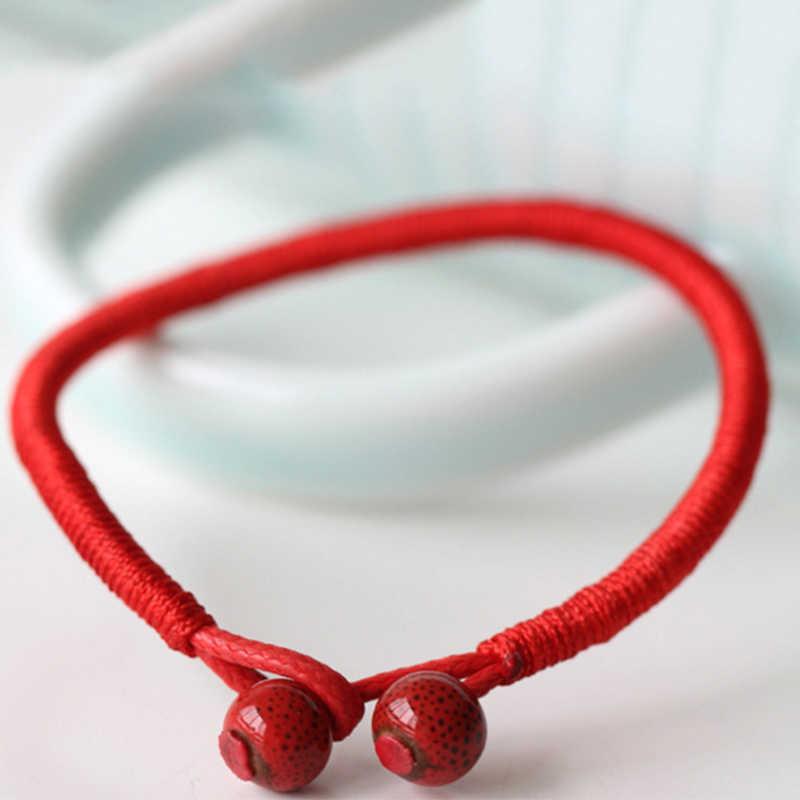 Лидер продаж 2018, 1 шт., модный браслет с красной нитью, красный, черный, ручной работы, веревочный браслет для женщин, мужчин, ювелирное изделие для влюбленных пар