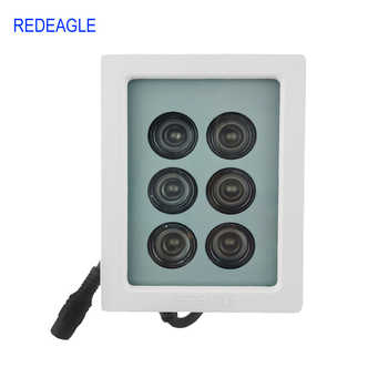REDEAGLE 850nm Infrared Lamp 6 Array LED Metal Waterproof IR Fill Light 45 degree for CCTV Security Camera - DISCOUNT ITEM  30% OFF All Category