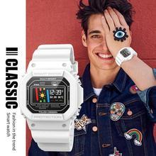 Модные умные часы X12 Смарт-часы Поддержка мужчин и женщин наручные часы с трекером монитор сердечного ритма для плавания ECG PPG