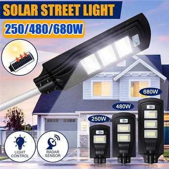 150/300/450LED Sensor Solar Panel Wall Street Light PIR Motion Lamp Waterproof IP67 50mm Mounting Pole for Outdoor Lighting 1