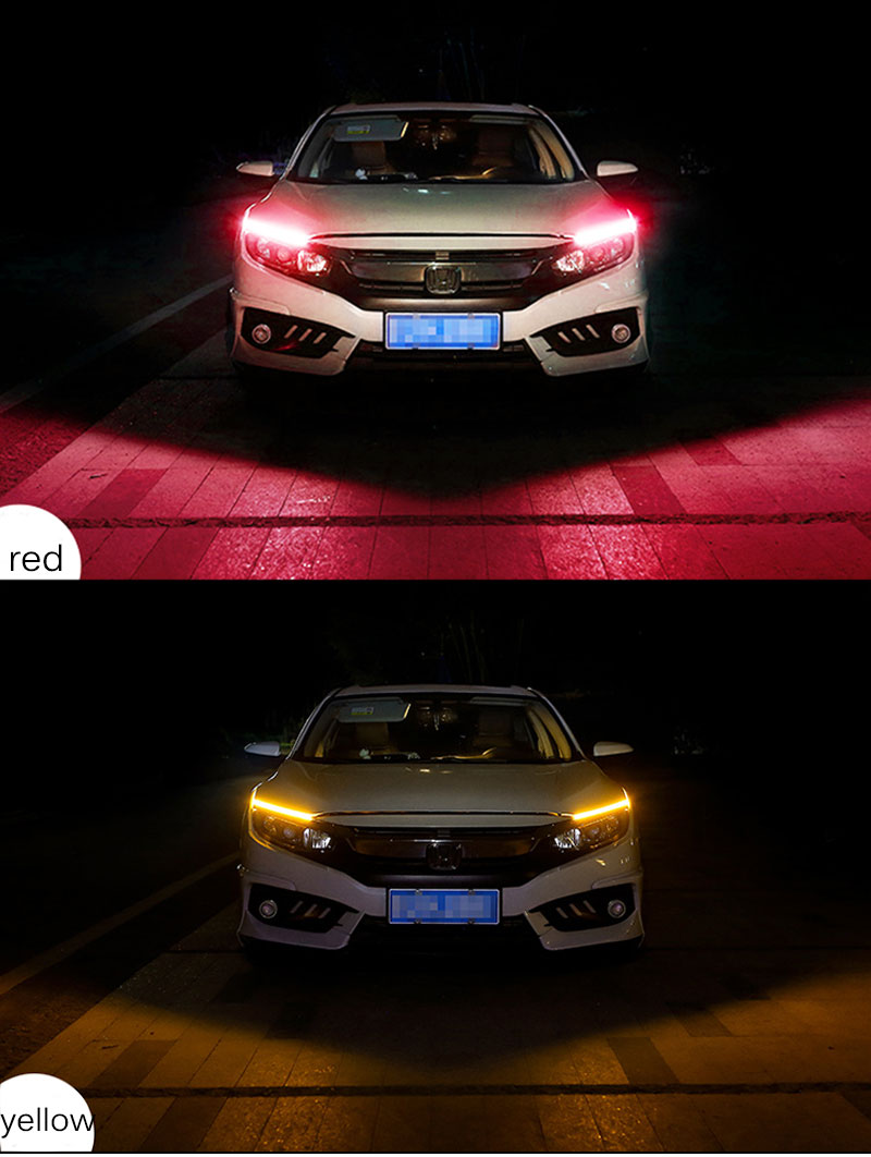 H1a9e260b3662441095e27ea072d7109eQ Ceyes 2pcs Led DRL Daytime Running Lights Turn Signal DRL Led Strip Car Light Accessories Brake Side Lights Headlights For Auto