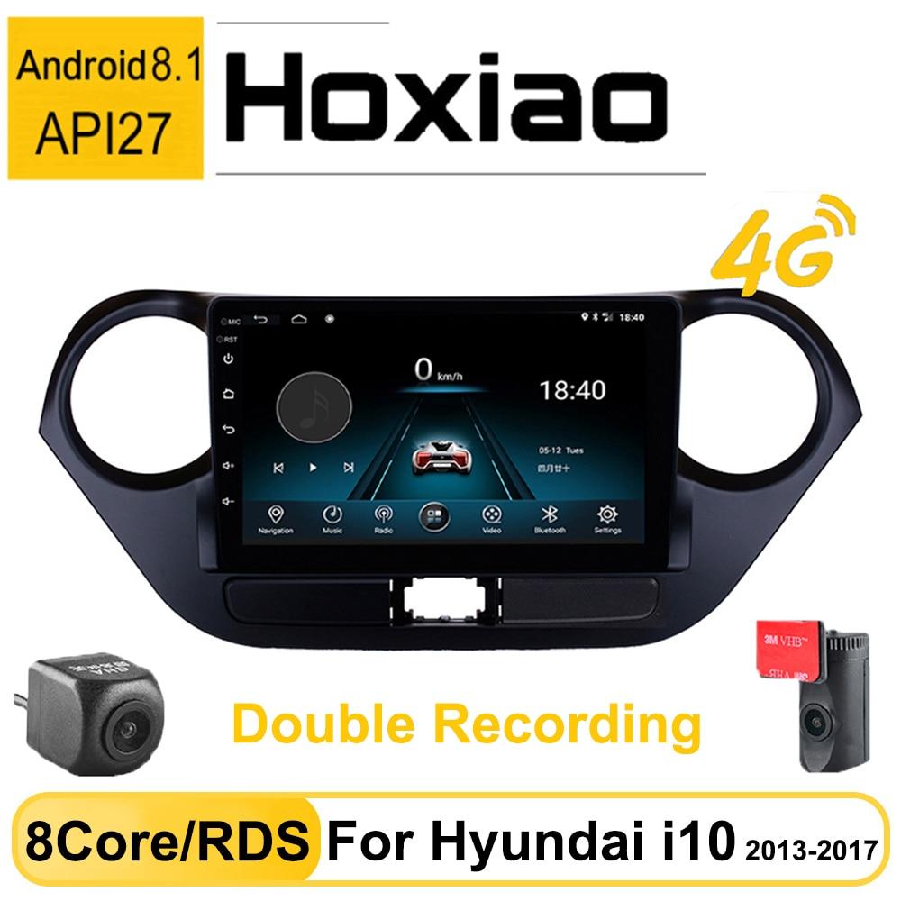 Android 8,1 RDS автомобильное радио 2 Din мультимедийный плеер для Hyundai Grand I10 2013 2014 2015 2016 8 ядер AM двойная запись авто радио