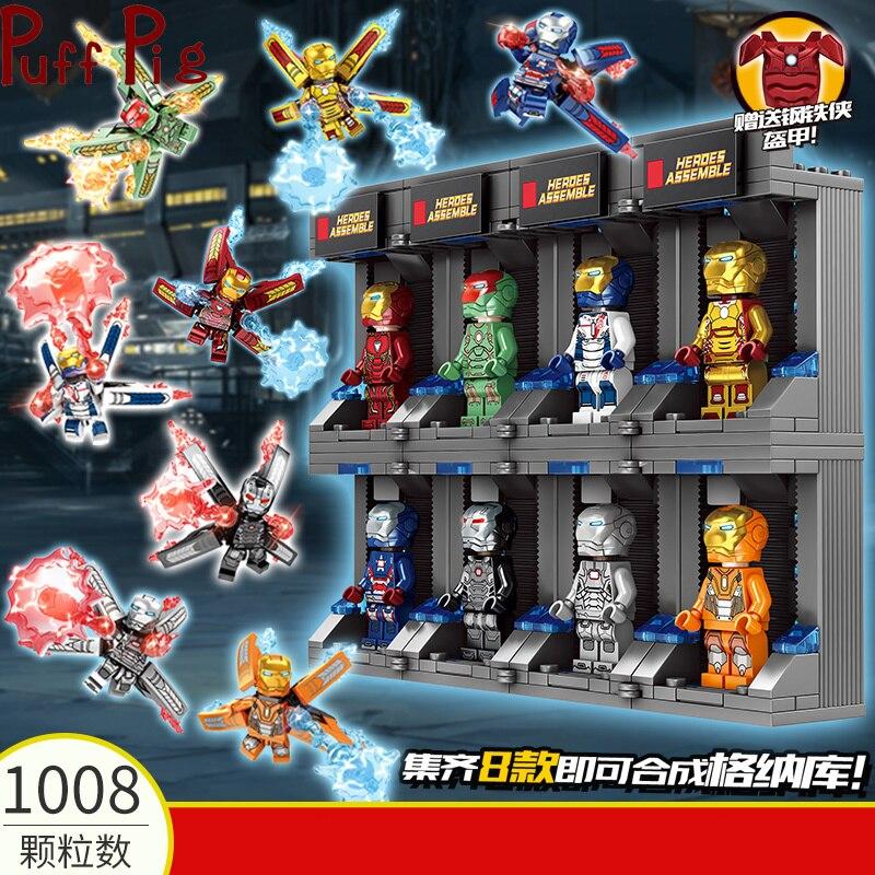 1008Psc герой робот строительные блоки Броня меха Модель Кирпичи Набор фигурок просвещение игрушки для детей