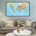 100x150 см карта мира, физическая карта, Нетканая карта мира с распылителем без национального флага для культуры и образования, плакаты и принт...