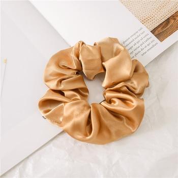 1 Pcs Satin Silk Solid Color Hair Ties Scrunchie Elastic Hair Bands Women Luxury Soft Hair Accessories Ponytail Holder Hair Rope 6