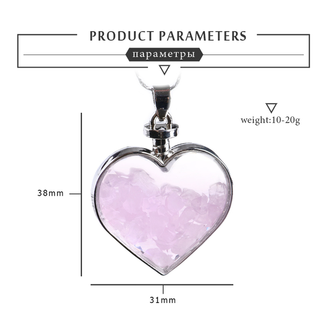 Natural Love Wishing Bottle Pendant  5