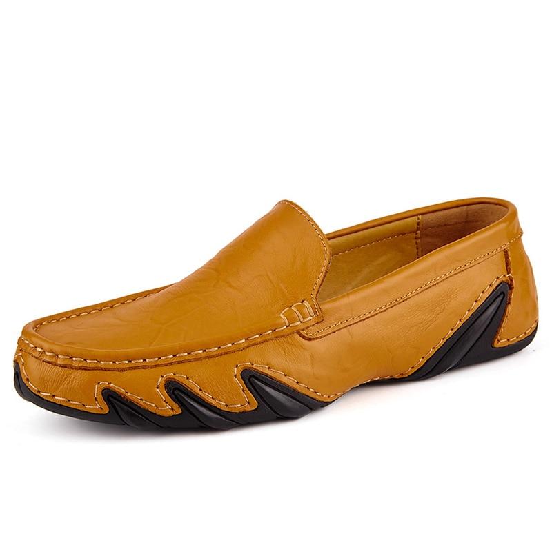 Casual Men Leather Shoes Boat Man's shoe Loafers Mocassin Men's loafer Man Slipons Moccasins Hot Sale Driving Brand Desinger 3