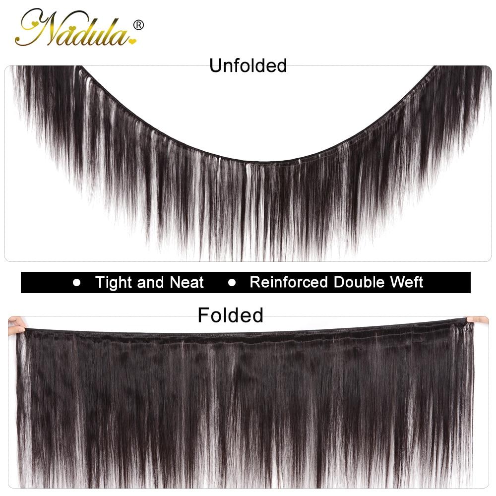 Nadula Hair 3 Bundles With 2Pcs Closures  Straight Hair Bundles With Closure 100%  Bundles With Closure 2
