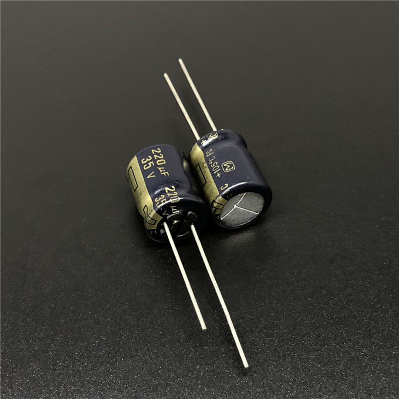 10pcs/100pcs 220uF 35V Panas FC Series 10x12.5mm Low Impedance 35V220uF Capacitor For Audio