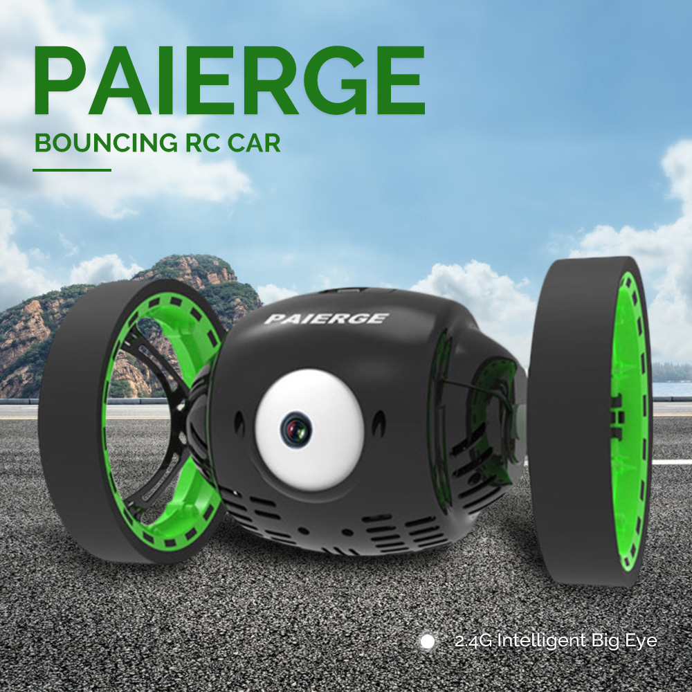 Paierge PEG - 700 2.4G Intelligent Big Eye Bouncing RC Car Amazing Jumping Ability 360 Rotation Stunt Car Remote Control Car Toy