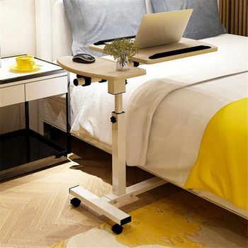 Adjustable Tilt Overbed Bedside Table with Wheels for Hospital and Home Use Foldable Portable Computer Desk