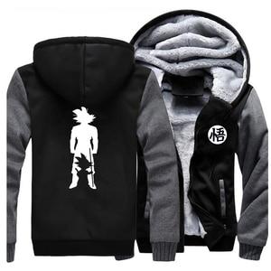 Image 4 - 2019 Thick hoodies Print cartoon Goku dragon ball Brand Coat Harajuku Streetwear Fashion hoodie sweatshirts Fleece Warm Hoody