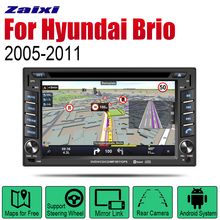 ZaiXi Auto Radio 2 Din Android Car DVD Player For Hyundai Brio 2005~2011 GPS Navigation BT Wifi Map Multimedia system Stereo цена