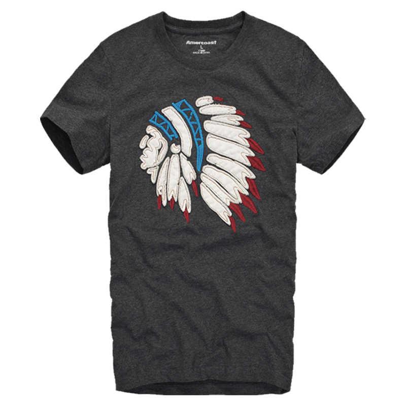 Amercoast Negozio Unisex degli uomini e delle Donne di Estate T-Shirt Nuova moda di strada Lettera di Cotone Stampato di Modo di T Shirt graphic t shirt