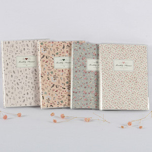 2019/2020 Flower Monthly Plan Planner Color Papers Notebook Organizer Agenda Schedule Book Office & School Supplies Stationery