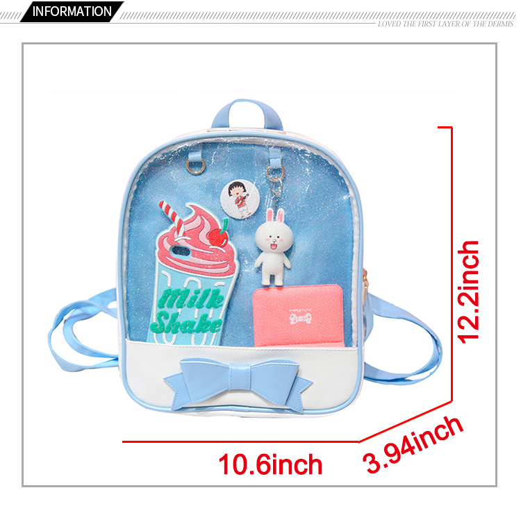 Transparent Mini Backpack For Girls