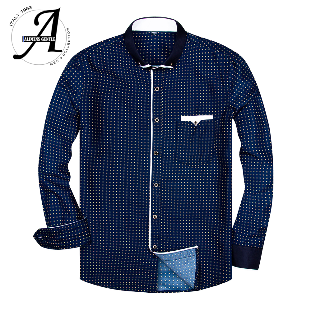 Fashion Printed Men Shirt Long Sleeve Casual Shirts For Men Slim Fit Male Dress Shirts Camisas Masculina