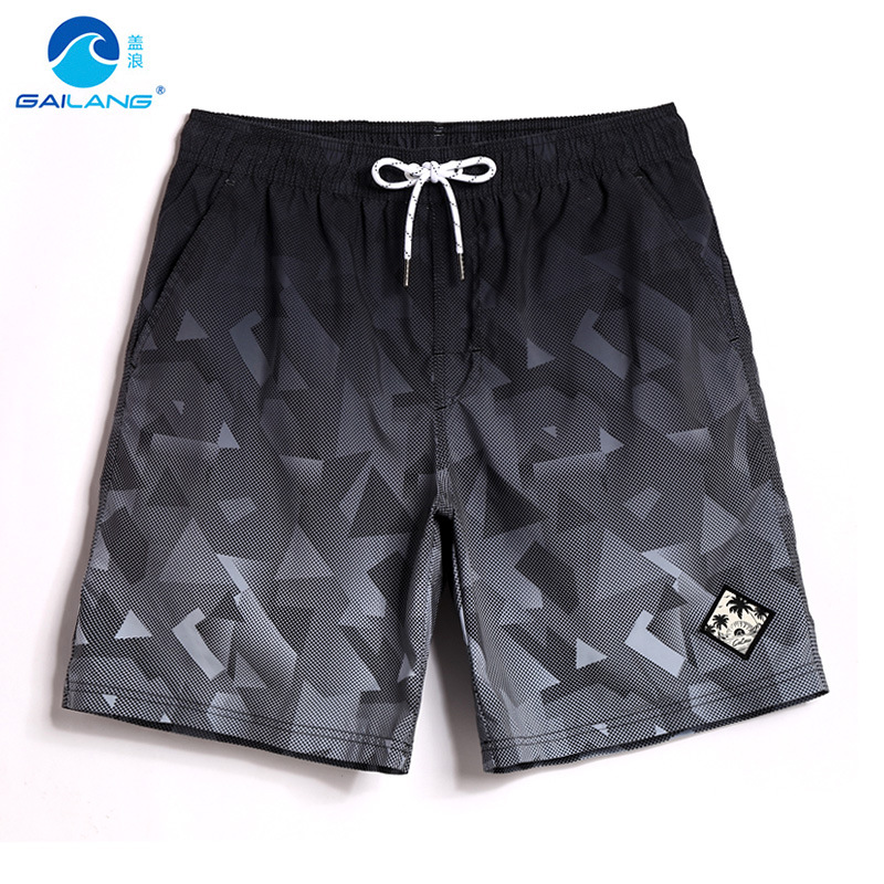 Beach Shorts Men Quick-Drying Loose-Fit Seaside Holiday Large Size Shorts Hot Springs Swimming Boxer Anti-Awkward Short Swimming