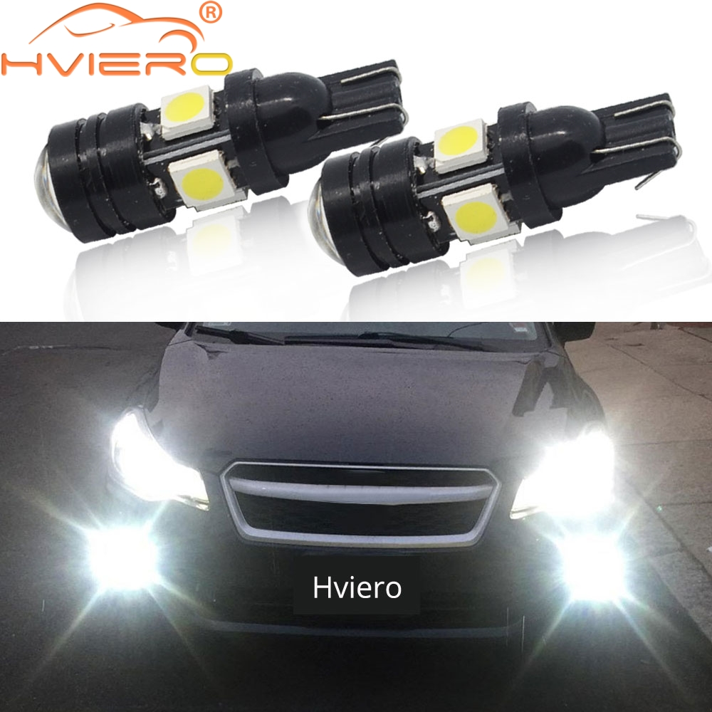 2X White Red Blue Led Wedge Led 196 168 4SMD 5050 Auto Led Auto Lamp Width Lamp License Plate Lens Light Scatter Bulbs