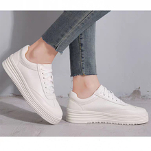 2018 spring beige white leather mesh round toe platform fashion lace up ins hot sale casual designer sneakers women flat shoes Siddons Fashion White Leather Women Chunky Sneakers Round Toe Lace Up Flat Shoes Women Tenis Feminino Platform Women Casual Shoe