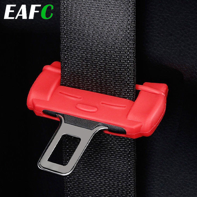 1pcs Car Safety Belt Buckle Silicon Protector Anti Scratch Seat Belt Buckle Clip Interior Accessories for BMW VW Audi Toyota