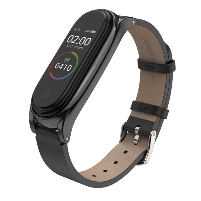 For Xiaomi Mi Band 5 Strap Miband 6 5 4 3 Metal Leather Bracelet Straps for Smart Watch Pulseira Correa for Xiomi NFC Wristbands 4