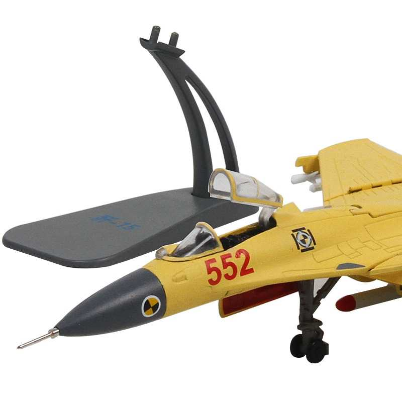 1/100 Skala Tempur Model China J-15 Terbang Hiu Flanker-D Carrier-Pesawat Berdasarkan Diecast Pesawat Logam Model Mainan
