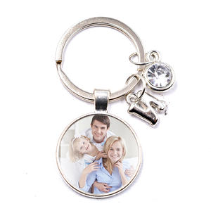 Keychain Custom Parent Photo Family Gift Grandpa Square Baby Mum Child of Your