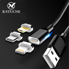 Micro USB Magnetic Cable Magnet Quick Charge 3A Type C Cables 1m 2m Android Wire Mobile Phone Fast Charging Data Cord