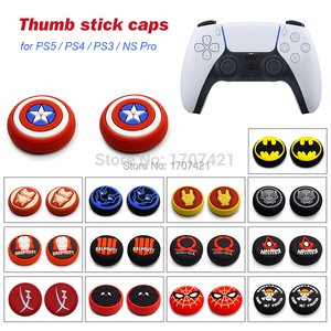 2pcs Soft Silicone Thumb Grip Stick Cap Cover For Sony PS4PS3 Controller for Playstation 4 PRO PS5 Joystick Cap Accessories