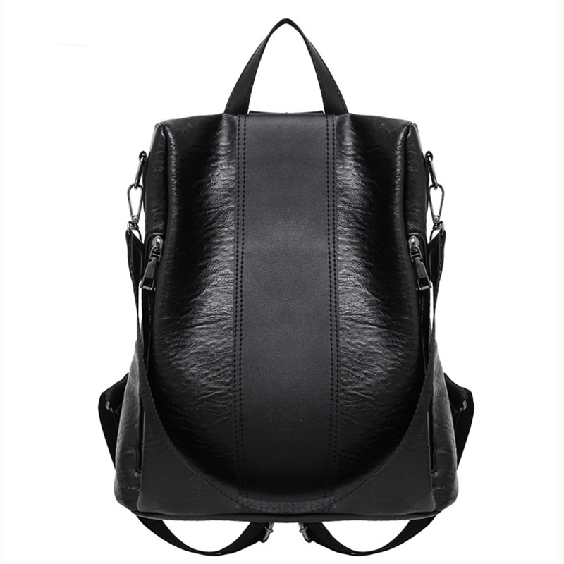 Backpacks Women 2019 Fashion Pu Leather Bags For Women Big  Black Backpack For Girls Shoulder Bag Knapsacks