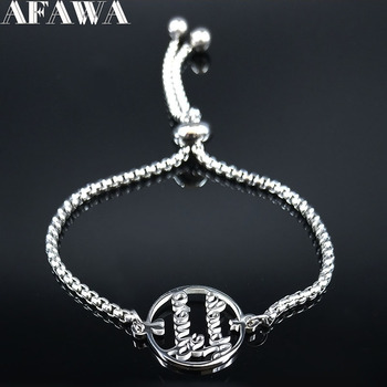 2021 Fashion Te Quiero Abuela Stainless Steel Chain Bracelets for Women Silver Color Bracelet Jewelry pulseras mujer B18597 image
