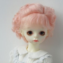 Accessoires de poupée BJD, perruque rose style princesse