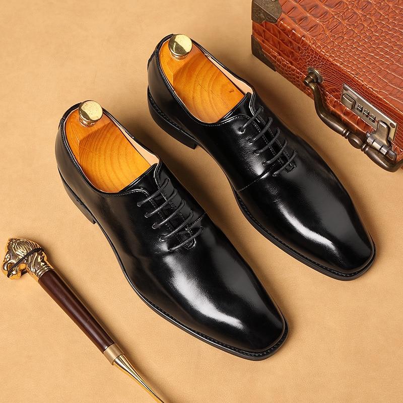 Zapatos de vestir de boda para hombre de talla grande 38-48 2020 zapatos Oxford de alta calidad para Hombre Zapatos de diseñador de negocios para hombres sociales mocasines
