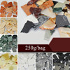 250g Marble Pattern Ceramic Glass Mosaic Tiles Irregular Jade Mosaic Pieces Handmade Materials DIY Stone Fragments Mixed Color