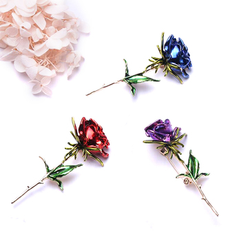 Broches de flor rosas para mujer, 1 broche de cobre, alfileres, ropa...