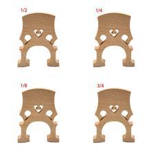 1 Pcs Exquisite Cello Bridge 4/4 3/4 1/2 1/4 1/8 Top Quality Maple Wood