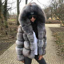 Fursarcar 2020 роскошный подлинный натуральных мех пальто по