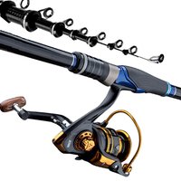 Rock Fishing Rod Carbon Fiber Telescopic Fishing Rod Ultra Light Casting Spinning Reel Sea Fishing Rod 3.6m 6.3m Peche Carpe