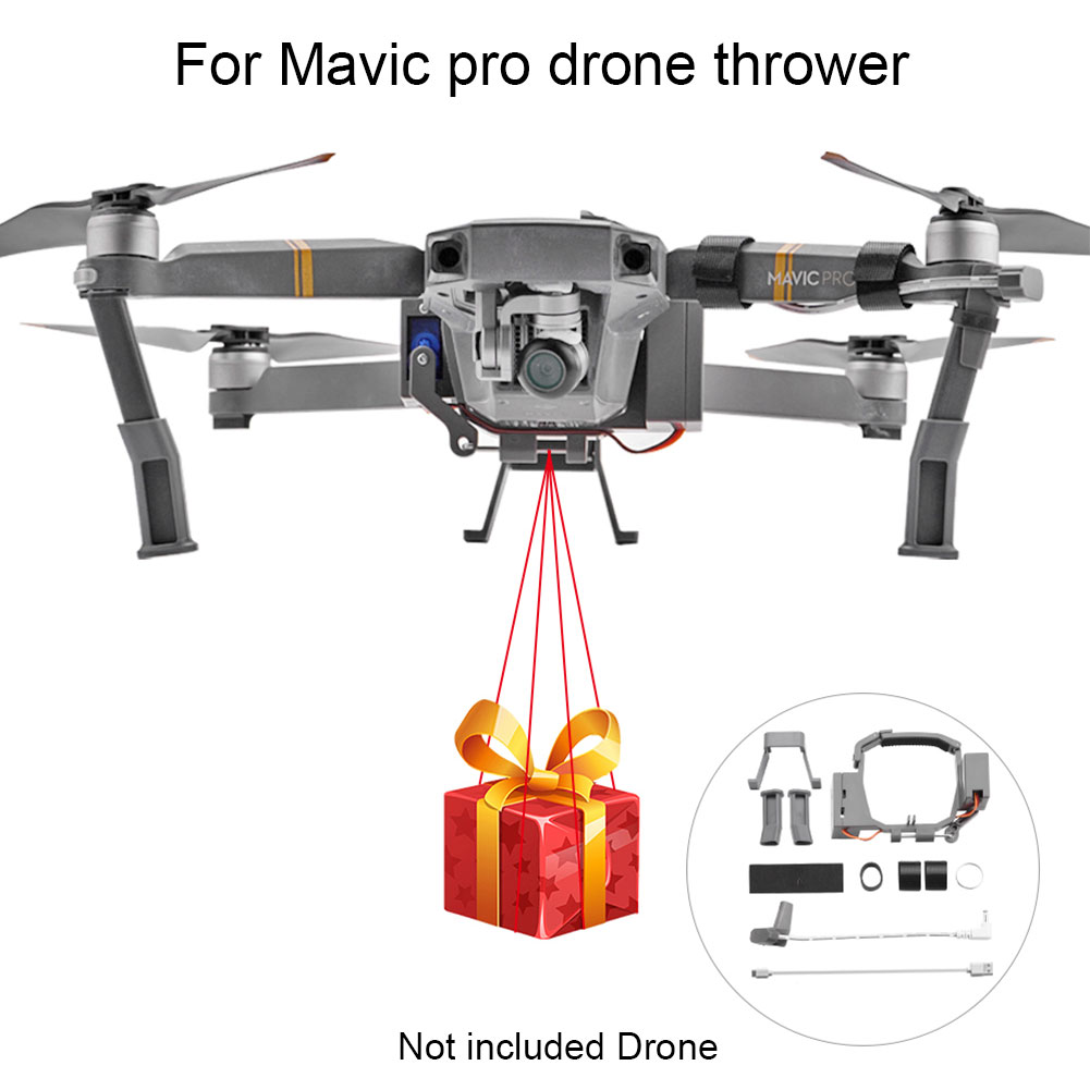 Quick Release Drone Thrower Lightweight Transport Gift Durable Wedding Proposal Dispenser Air Dropping For DJI MAVIC PRO