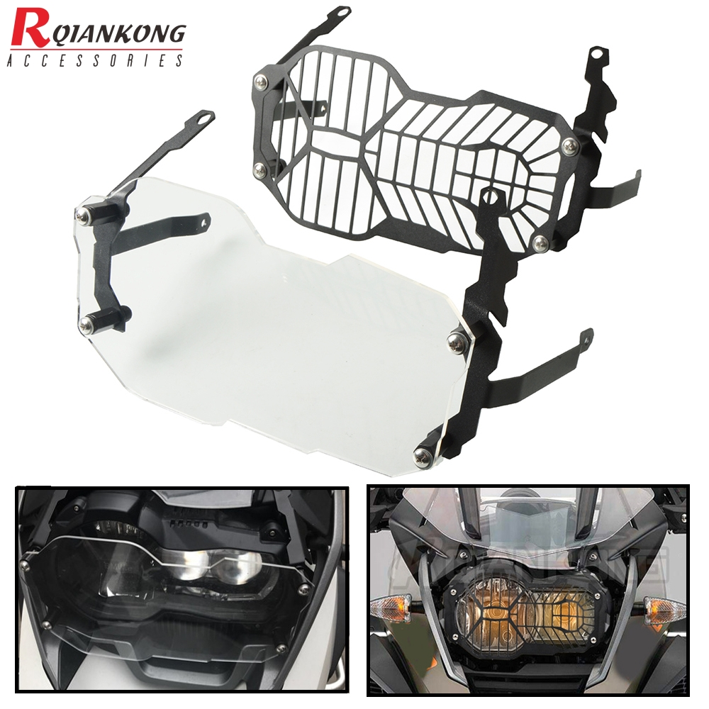 Motorcycle Headlight Protector Head Light Guard Covers For <font><b>BMW</b></font> <font><b>R1200GS</b></font> R 1200 GS / LC / <font><b>Adventure</b></font> <font><b>2013</b></font> 2014 2015 2016 2017 <font><b>2018</b></font> image