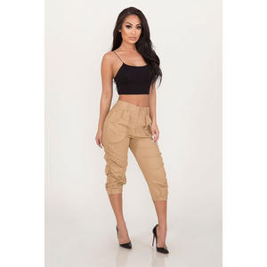 Trousers Women Pants Joggers Street-Wear Cargo Elasticated Loose High-Waist Moto Link-Chain